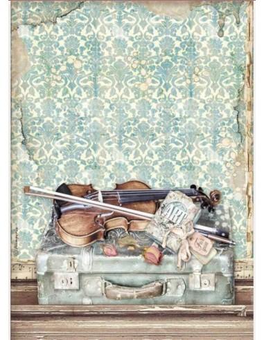 A4 - Papier de riz Art Violon -...