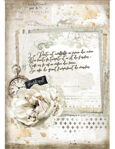 A4 - Papier de riz Journal Romantique...