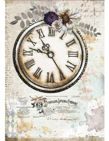 A4 - Papier de riz L'horloge - Stamperia