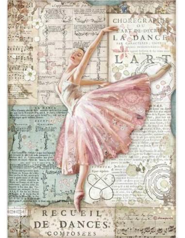 A4 - Papier de riz Ballerine - Stamperia